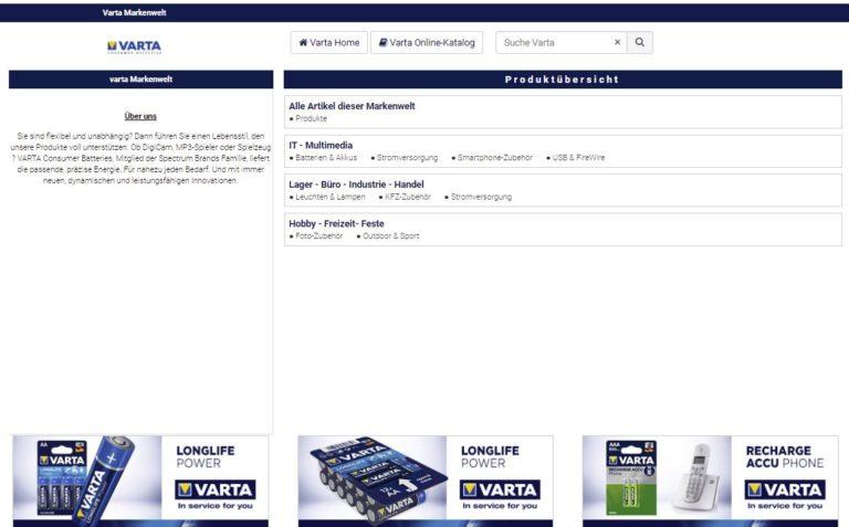 Markenshop Varta